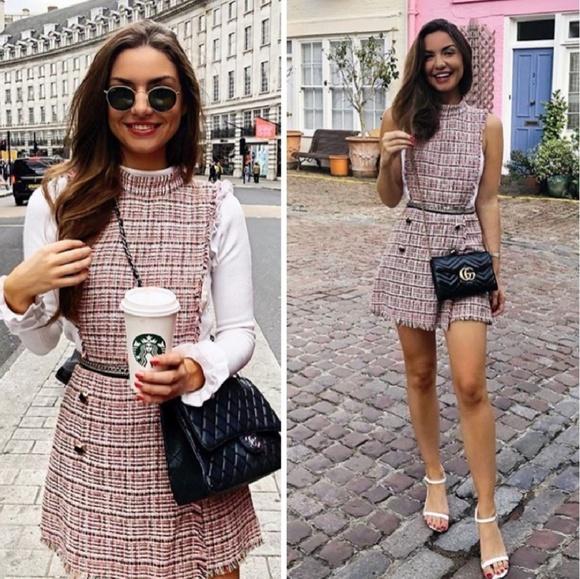 175ed6a909c BLOGGERS FAV Zara tweed jumpsuit